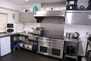 Fully equipped kitchen, available for hire