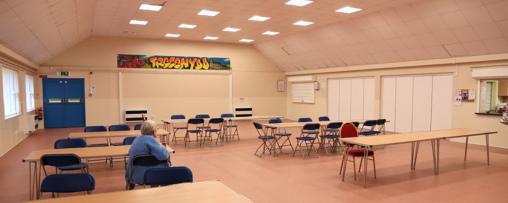 Main Hall at Trecenydd Community Centre - available for hire